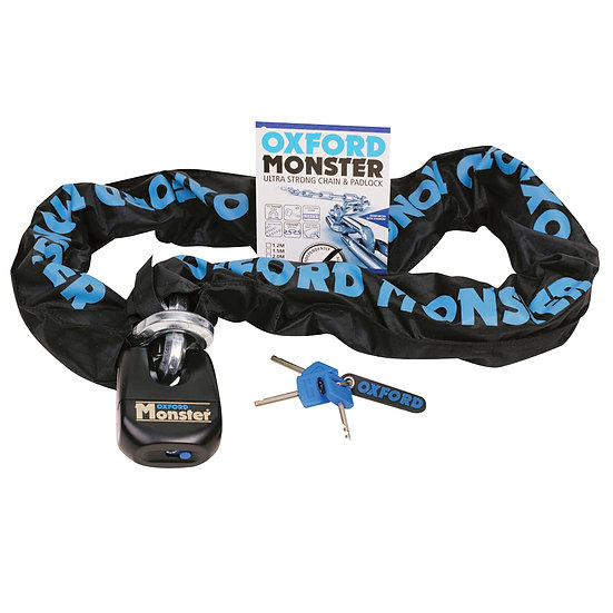 Oxford Monster 14mm Hex Chain & Padlock
