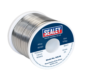 Solder Wire Quick Flow 1.6mm/16SWG 40/60 0.5kg Reel