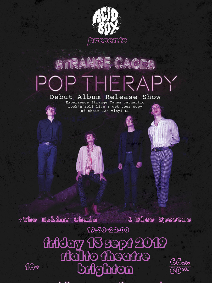 STRANGE CAGES 2019 POP THERAPY POSTER.jp
