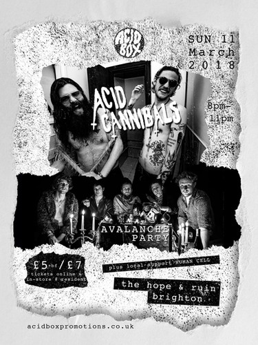 ACID CANNIBALS AVALANCHE PARTY POSTER.jp