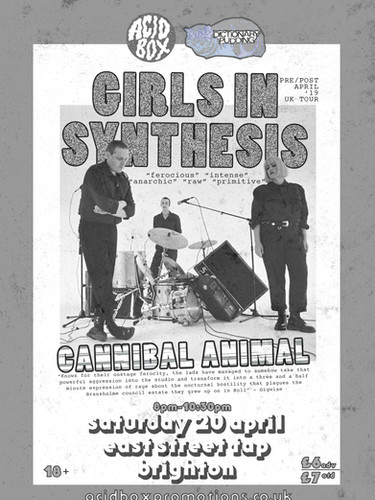 Girls In Synthesis + Cannibal Animal liv