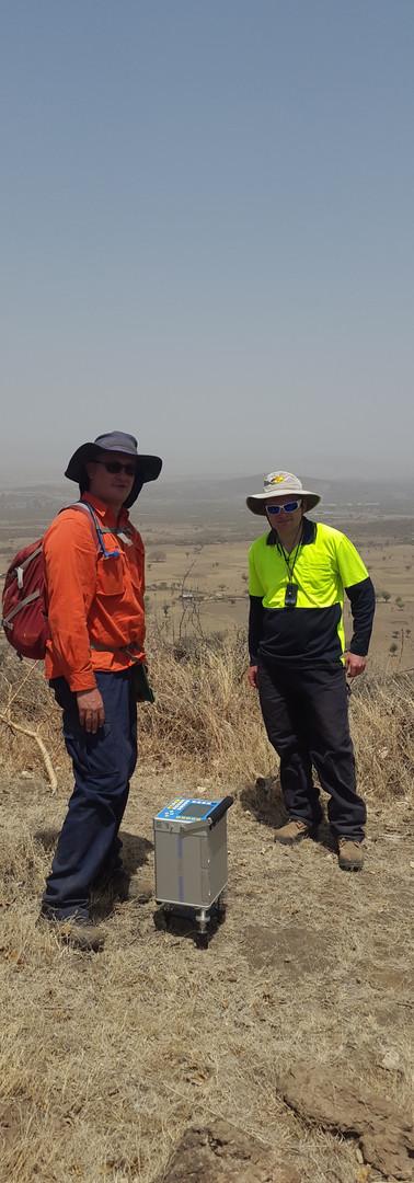 Gravimetry in the Ethiopian rift valley.