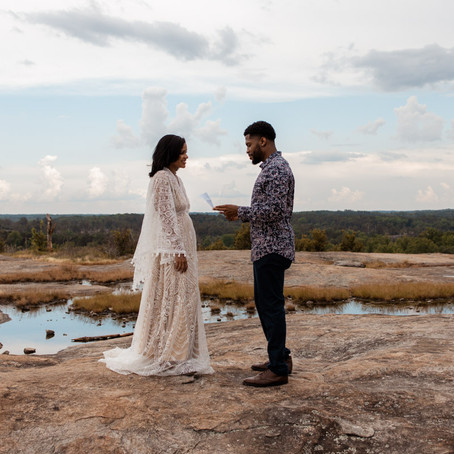 Intimate Arabia Mountain Vow Renewal