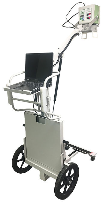 Ultra-lightweight portable medical X-ray machine with mobile cart
