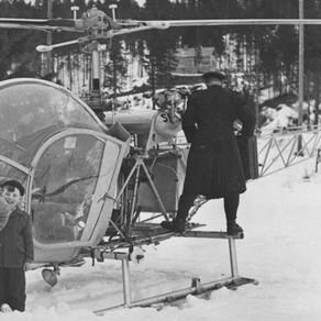 Helikopter i byn