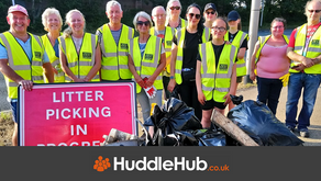 Wonderful volunteers collect 24 bags of rubbish from A590 grass verges