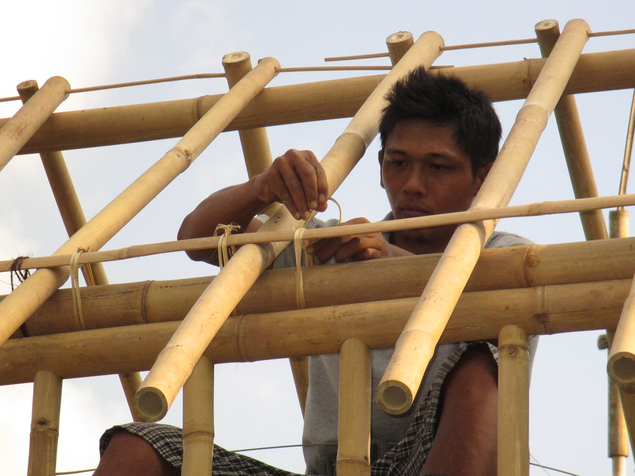 100% bamboo structure
