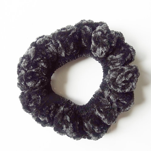 Midnight Noir Velvet Scrunchie
