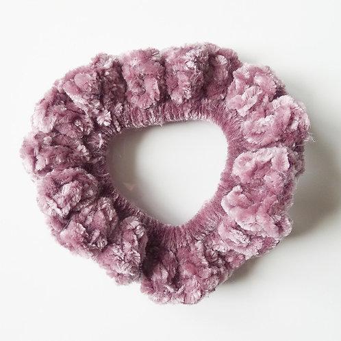 Pretty in Pink Velvet Scrunchie