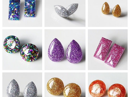 Glitter Earrings Wholesale