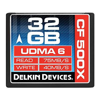 Memoria Delkin CF32GB  500x UDMA 6