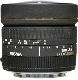 8mm 3.5 EX DG Circular Ojo de Pez P/Nikon