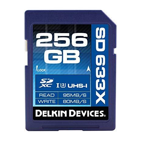 Memoria Delkin SDXC 256GB 633x UHS-1