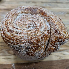 Orange cinnamon morning bun, whole wheat