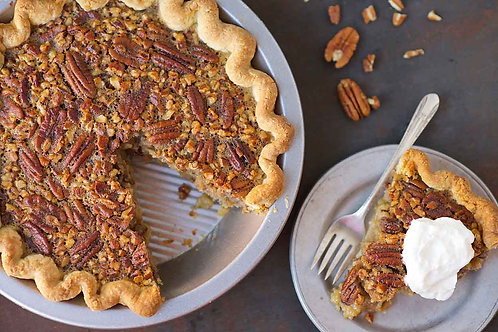 Pecan Pie with Bourbon Chocolate Chips