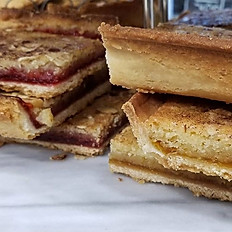 Raspberry Linzer Bar