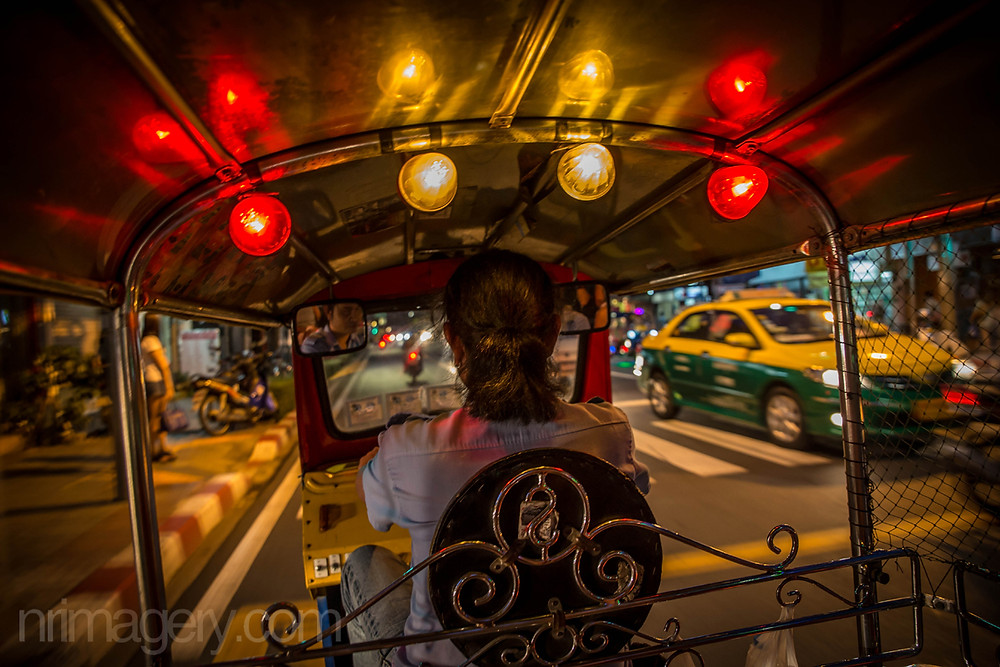 Night cruising in an Iconic Bangkok Tuk-tuk  - Photographed with Canon 6D with Tamron SP 24-70mm f2.8 lens - ISO1000, f3.2, 1/50