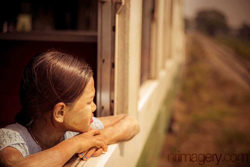 Local girl travelling the Yangon Circular Train route. Photographed with Canon EOS 6D with Tamron SP 24-70mm f/2.8 - ISO-200, f/2.8, 1/1600
