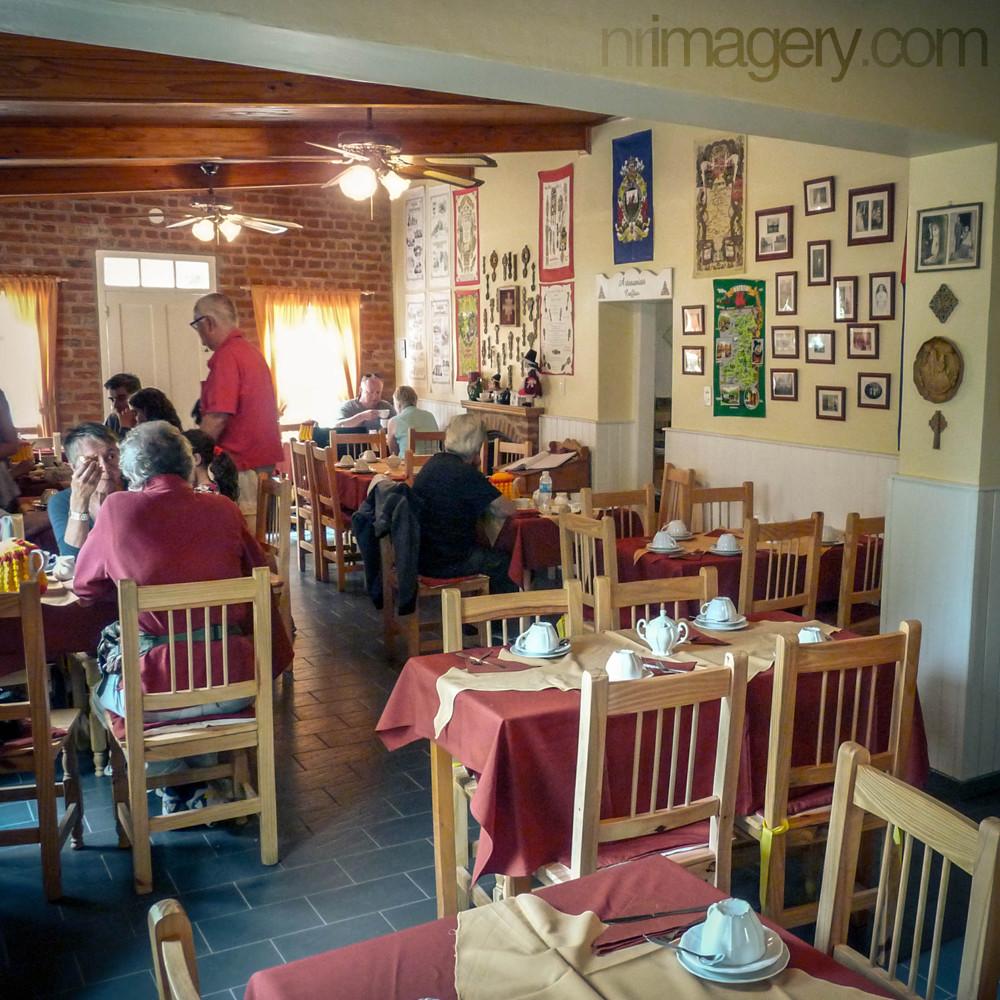 Inside 'Plas y Coed' casa galesa. Gaiman