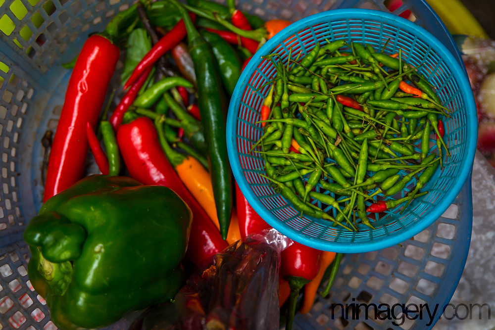 Various Chillies - Photographed using Canon 6D with Tamron SP 24-70mm f2.8 lens - ISO400, f2,8, 1/200