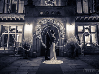 Using Sparklers for dramatic Wedding Photographs