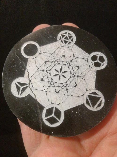 Cubo di Metatron su Selenite