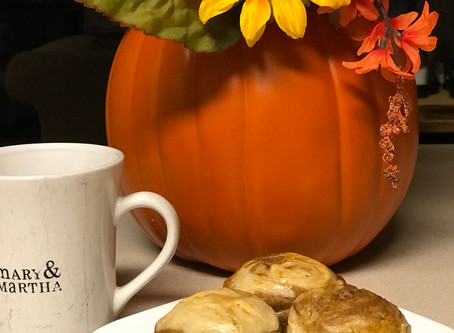Pumpkin Muffins with a twist (or a swirl really)