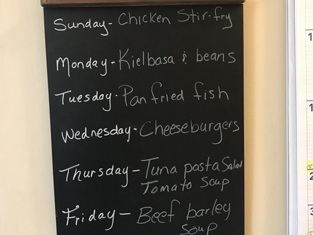 This weeks menu