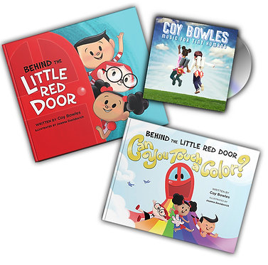 Music for Tiny Humans & Both Behind the Little Red Door Books