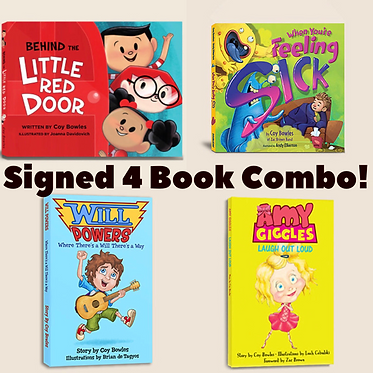 Signed 4 Book Combo (New Book Free)