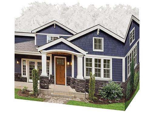 XL Blue House Gift Box
