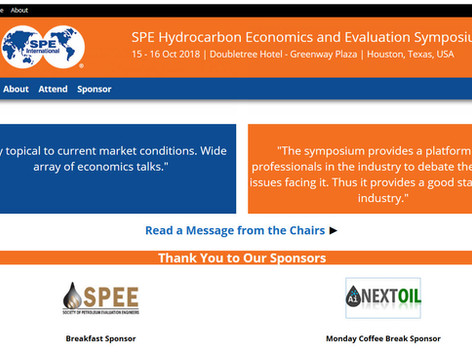 NEXTOIL is a Proud Sponsor of 2018 SPE HEES/PRMS on 15-16 October, 2018