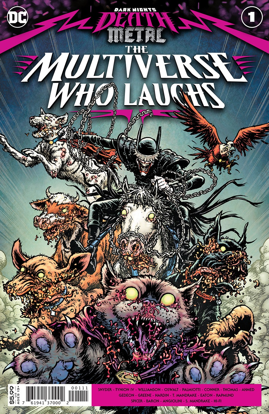 DARK NIGHTS DEATH METAL: THE MULTIVERSE WHO LAUGHS #1 (ONE-SHOT)
