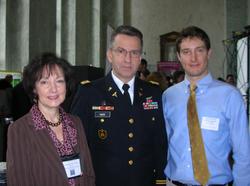 Dr. Moser with Colonel Dallas Hack