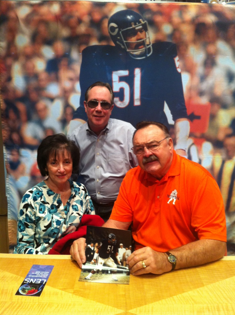 Dr. Moser with Dick Butkus