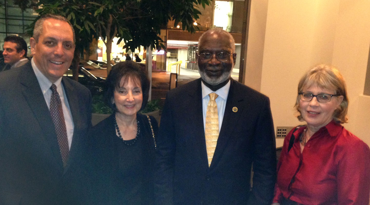 Dr. Moser with Dr. David Satcher
