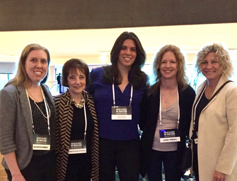 Dr. Moser with International Women Concussion Colleagues at the 2017 Head Injury in Soccer Conferenc