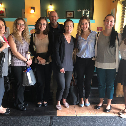 The Centers join forces with St. Joseph's University graduate students for a research planning meeti