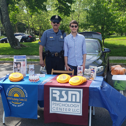A great day! Sports Concussion Center of New Jersey joins forces with Princeton Police at the annual