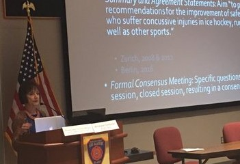 Dr Moser at BIANJ Youth Concussion Summit