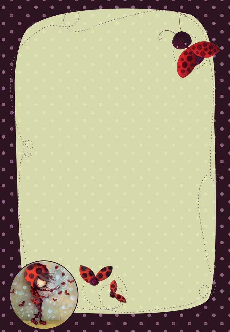 Magnetic Note Pad - Ladybugs