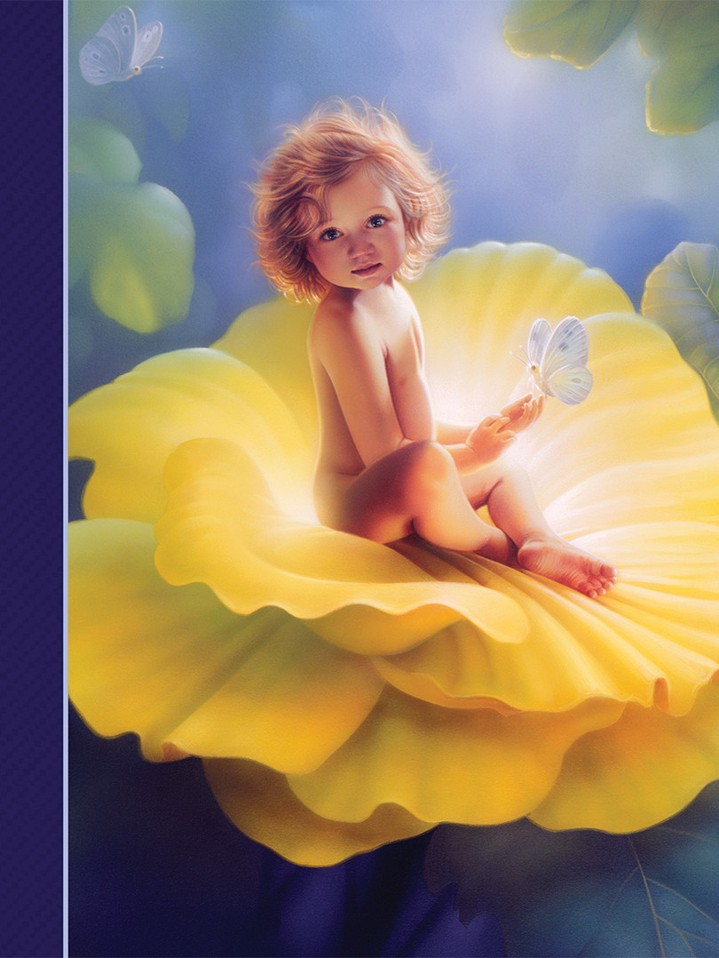 Journal - Baby in Flower