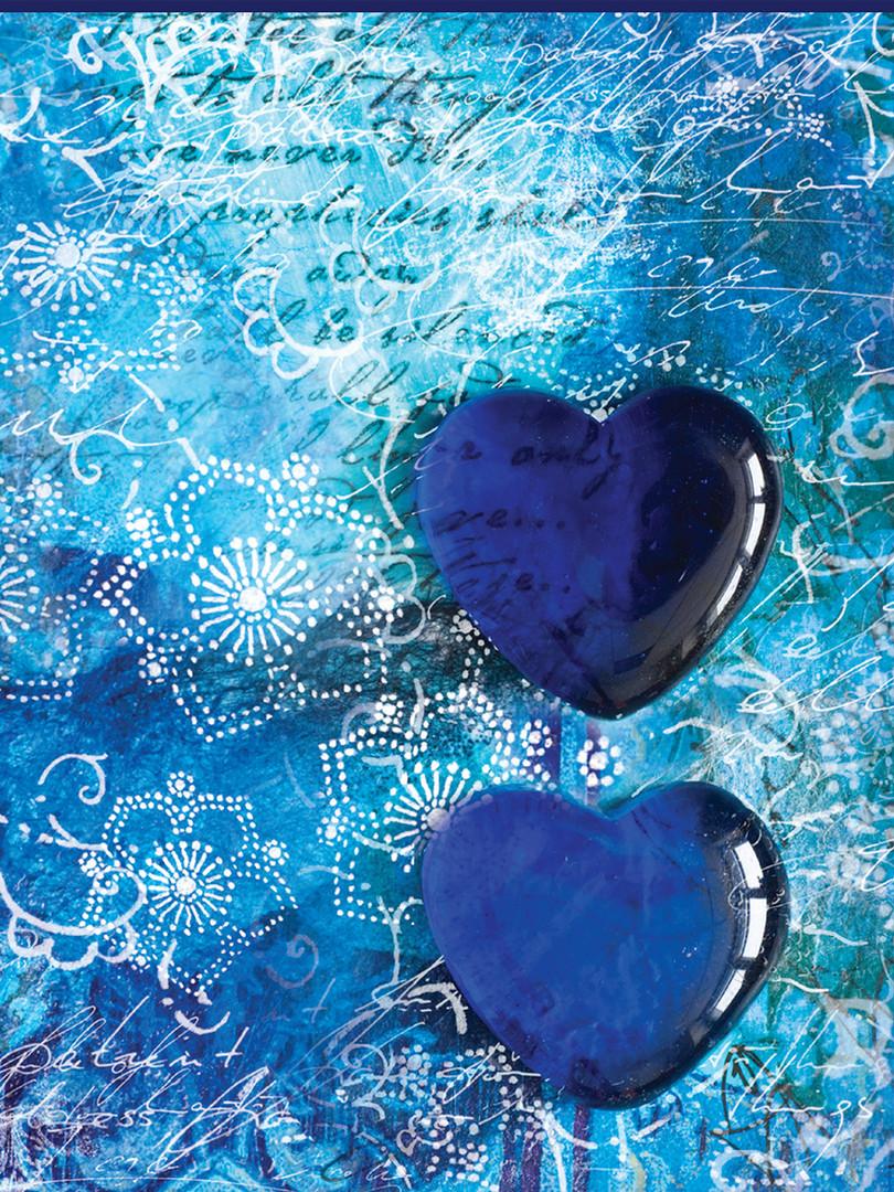 Rec. Memo Block - Blue Hearts