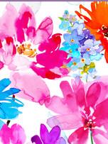 Rec. Memo Block - Colorful Flowers
