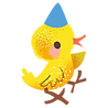 Chick With Blue Hat.png