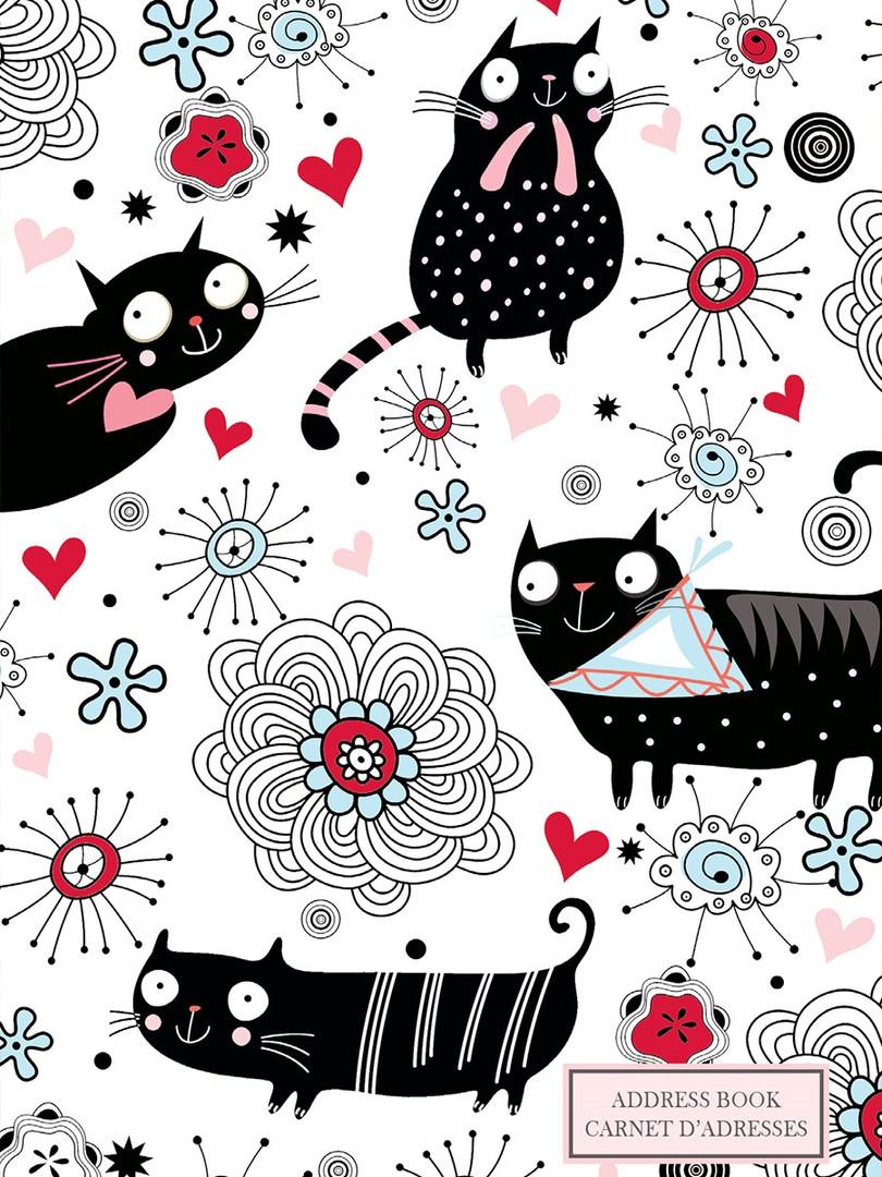 Address Book - Doodle Cat