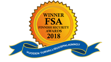 CySec Ice Wall Ltd was awarded with Finnish Security Awards 2018 -diploma