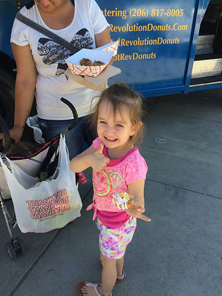 Hot Revolution Donuts makes kids happy in Seattle, King County and WA State