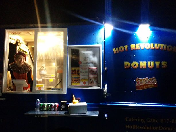 Hot Rev Donuts for day or night catering; Seattle, King County; WA State