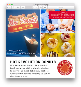 Hot Rev Donuts featured in Magnolia; Seattle; King County; WA State